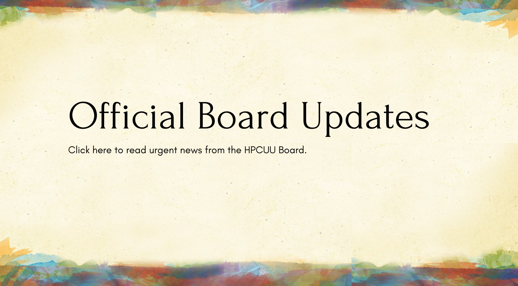 Official Board Updates